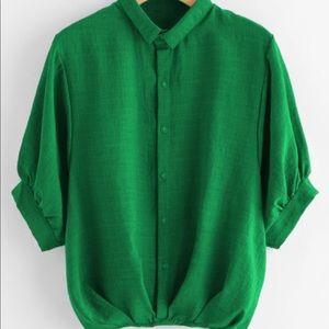 Button down green shirt M